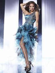 Embellished Single Strap Formal Prom Dress Panoply 14457