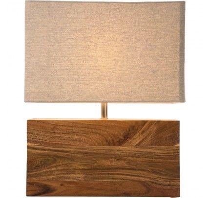 Lámpara mesa Rectangular Wood Nature | Lámparas de techo