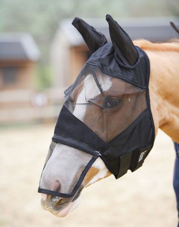 Bug Proof Fine Mesh Full Face Fly Mask With Ears <>.  Sale!