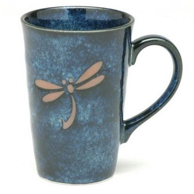 Check Out The Deal On Blue Dragonfly Mug At The Tea Table Dragonfly Pottery Mugs Dragonfly Decor