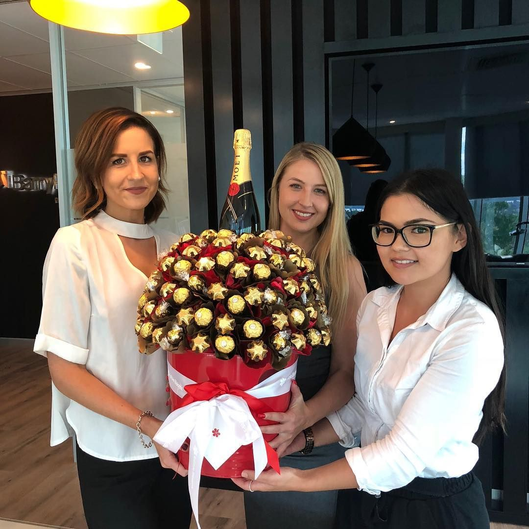 Whats better than a bouquet of flowers a bouquet of chocolates of whats better than a bouquet of flowers a bouquet of chocolates of course what a lovely and delicious surprise delivery from barry plant franchise izmirmasajfo