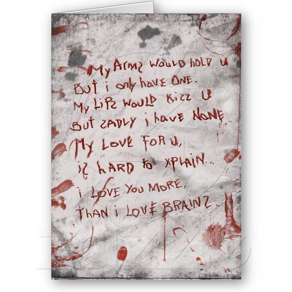 Zombie valentines day holiday card pinterest muahahahahaha i love zombie themed greeting cards m4hsunfo