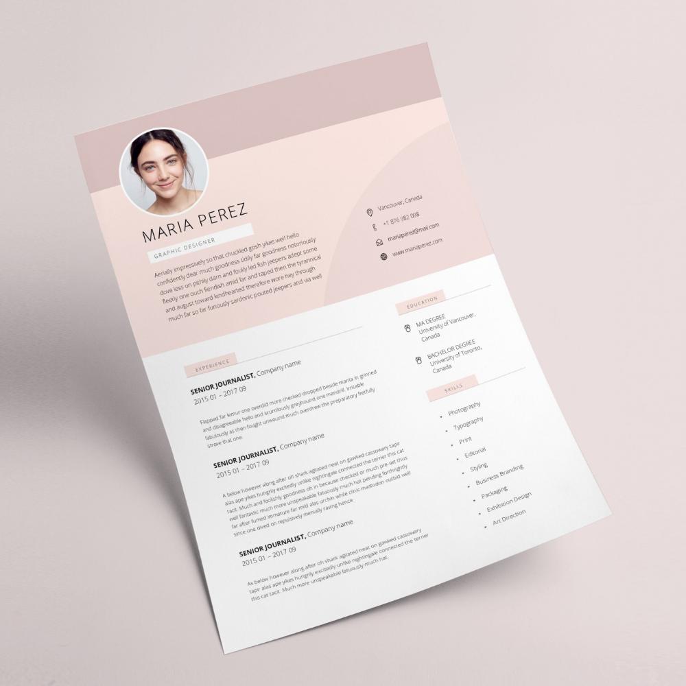 Modern Resume Design Resume Template Word Cv Template Word Cv Design Curriculum Vitae Free Resume Template Teacher Resume With Photo Cv Template Word Resume Design Resume Design Template