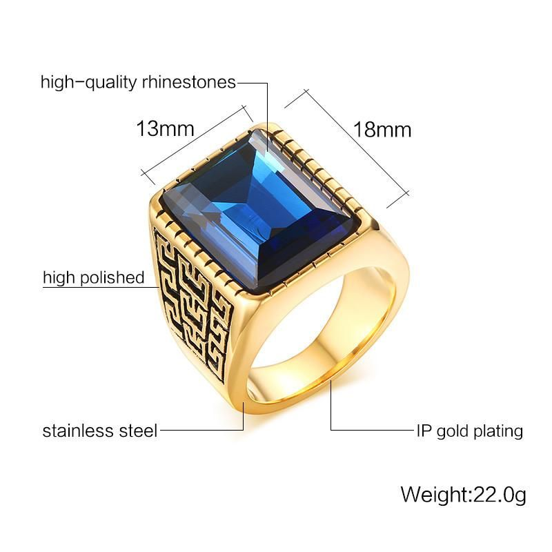 Item Type Rings Fine Or Fashion Fashion Occasion Party Style Ethnic Shape Pattern Round Compatibility All Compatible Rings Type Cocktail Ri Rings For Men Mens Gold Rings Mens Stainless Steel Rings