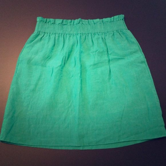 J. Crew Emerald Green Linen Skirt J. Crew Emerald Green Linen Skirt. Perfect condition J. Crew Skirts