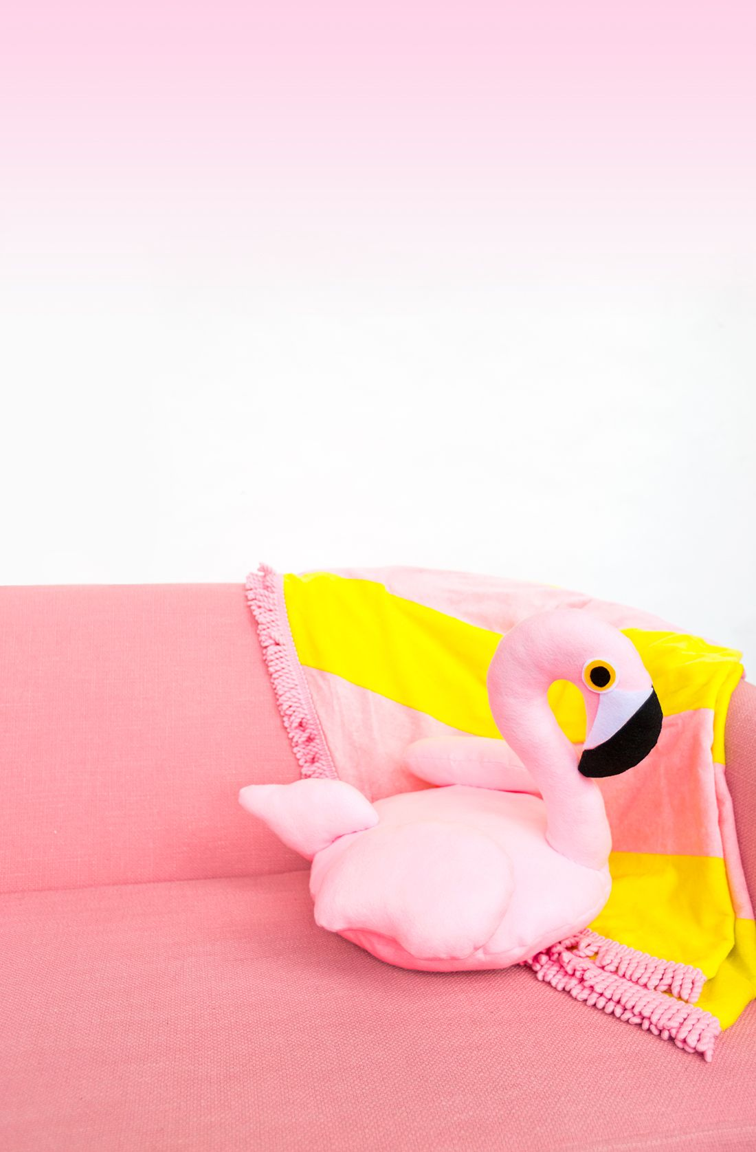 DIY Flamingo Pool Float Pillow