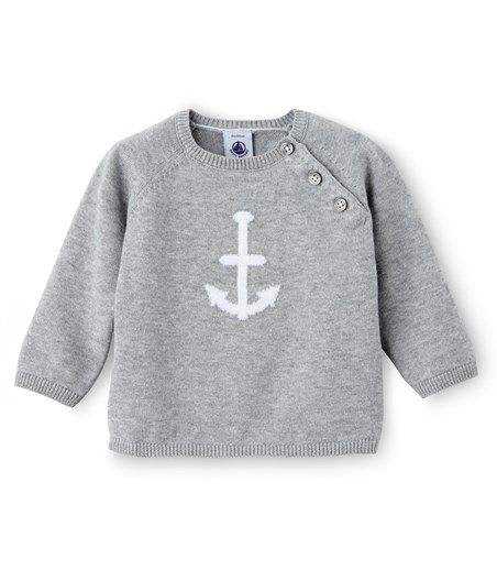 pull b b gar on en tricot de coton baby is arriving pinterest pull b b gar on b b. Black Bedroom Furniture Sets. Home Design Ideas