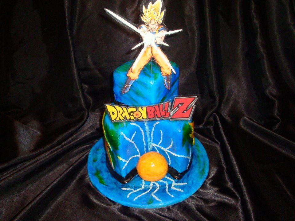 DragonBall Z Birthday Cake Kids Birthday Cakes Pinterest