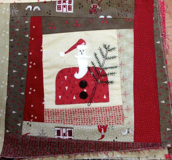 Wonky Santa Quilt Kit By Lynette Anderson With By Sunvalleyfabric Christmas Quilts Christmas Fabric Handmade Christmas