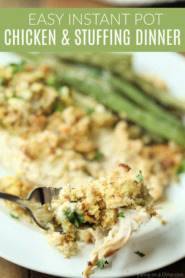 Instant Pot Chicken and Stuffing Recipe is the best comfort food. With very little work, Instant pot chicken and stuffing casserole comes together quickly.