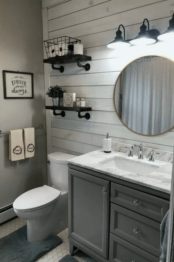 23 Wonderful Bathroom Decoration Ideas With Farmhouse Style Bathroom Farmhouse Style Small Bathroom Decor Farmhouse Bathroom Decor