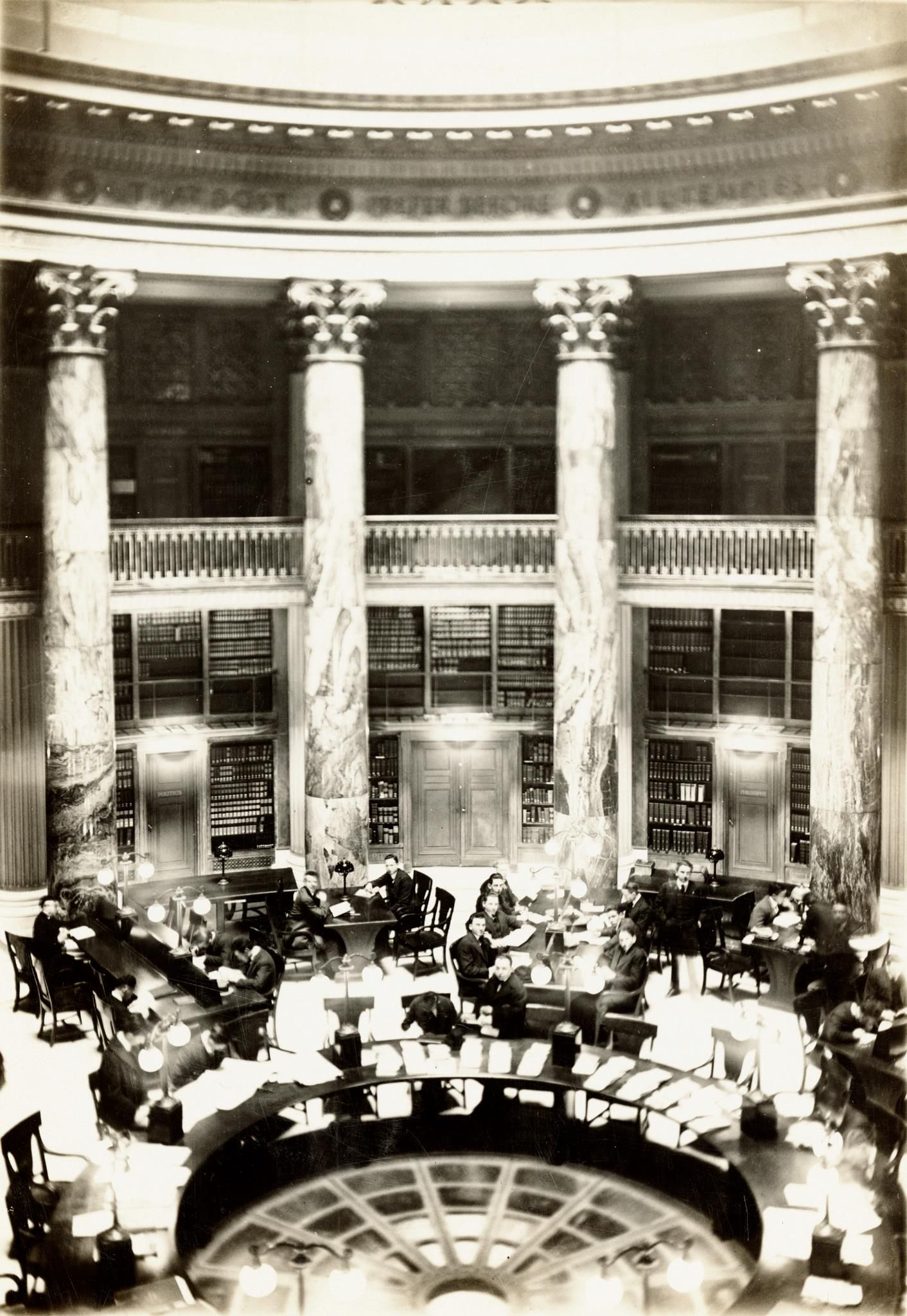 Before Bobst An interior shot of the central reading room in