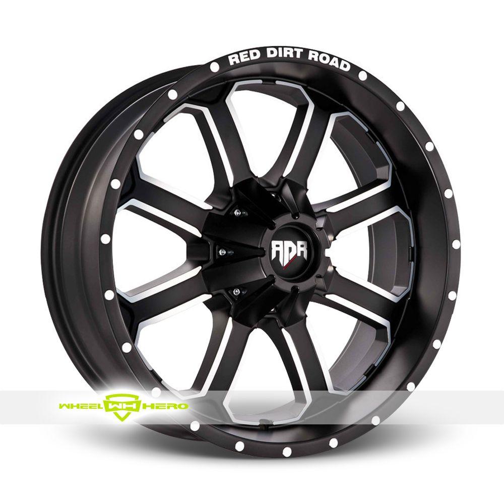 Red Dirt Road Dirt RD01 Machined Black Wheels For Sale - For more info: http://www.wheelhero.com/customwheels/Red-Dirt-Road/Dirt-RD01-Machined-Black