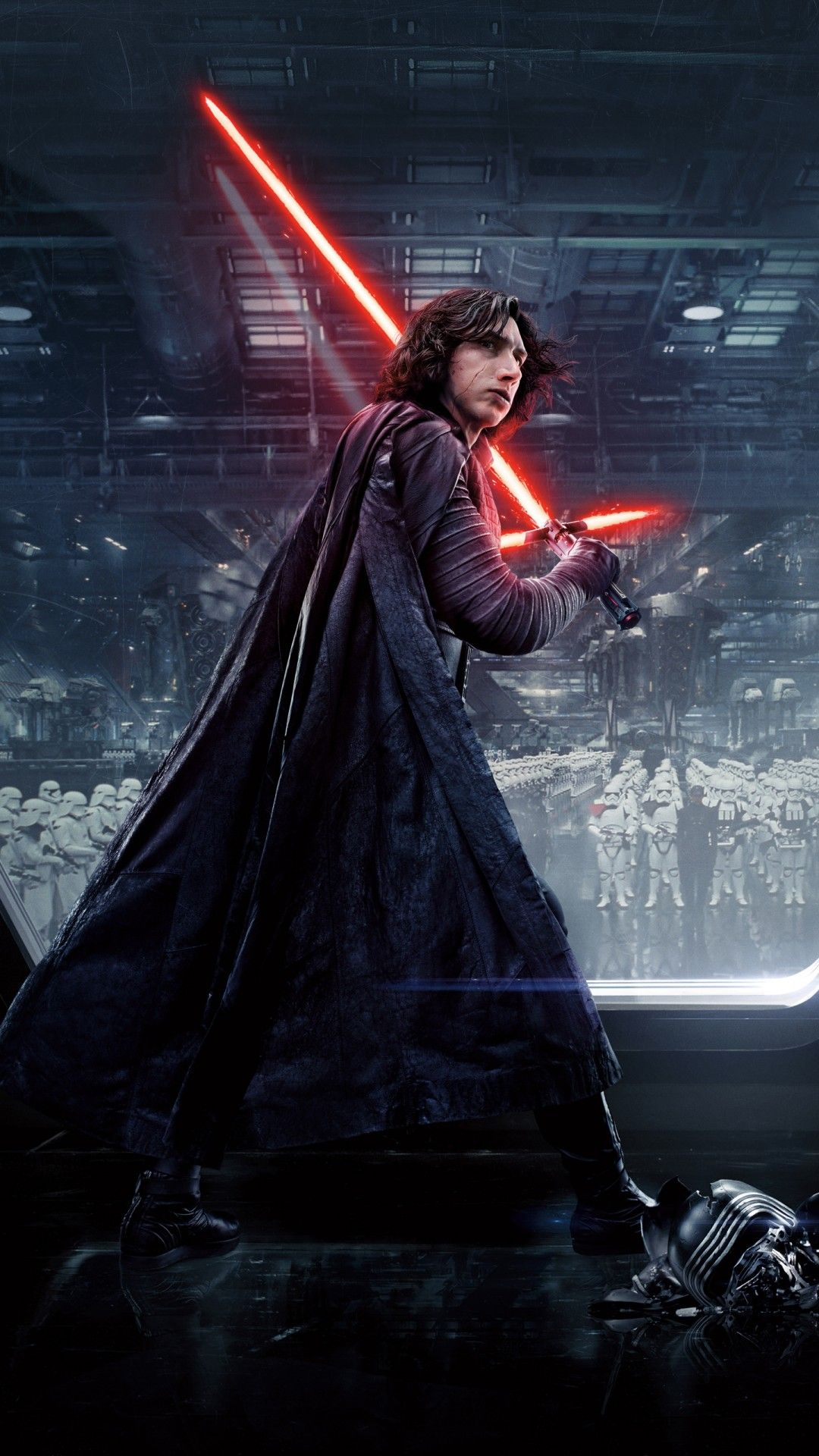 Adam Driver Kylo Ren Star Wars The Last Jedi Tap To See More Exciting Star Wars Wallpapers Mobile9 Star Wars Wallpaper Ren Star Wars Star Wars Kylo Ren