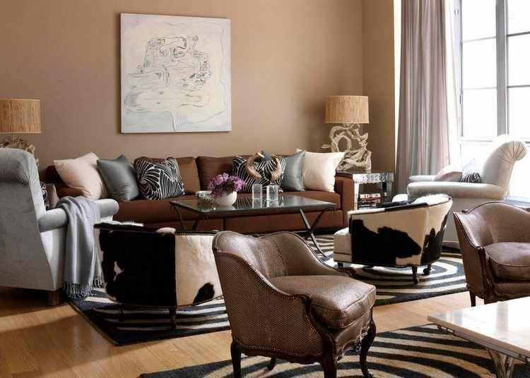 pintar salon dos colores paredes Pinterest - wohnzimmer braunes sofa