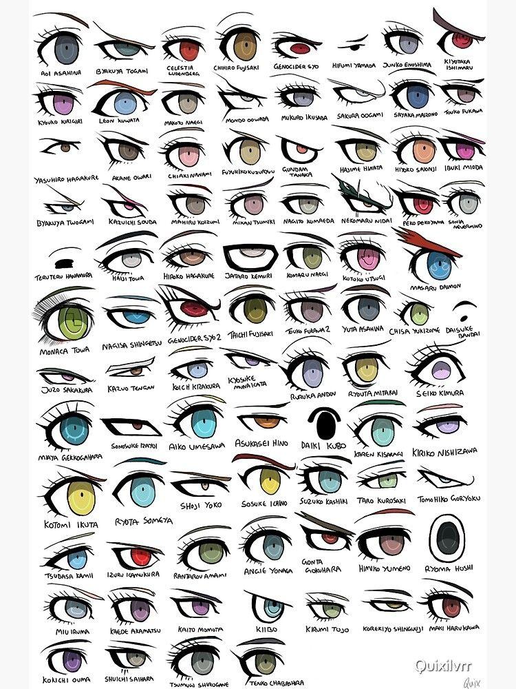 Póster ''Danganronpa Eyes' de Quixilvrr