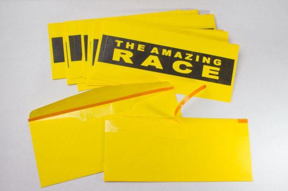 Amazing Race Tear Strip Envelopes Amazing Race Amazing Race Party Amazing