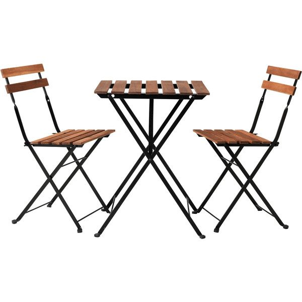 Ikea TÄrnÖ Bistro Set Acacia Steel 50 Liked On Polyvore Featuring Home Outdoors Patio Furniture Outdoor Sets Table