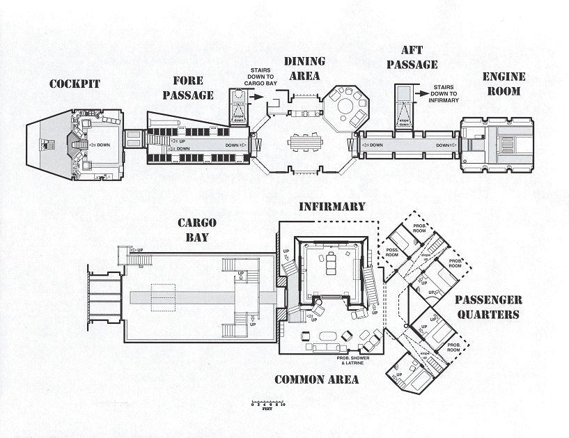 firefly class ship serenity ship layout