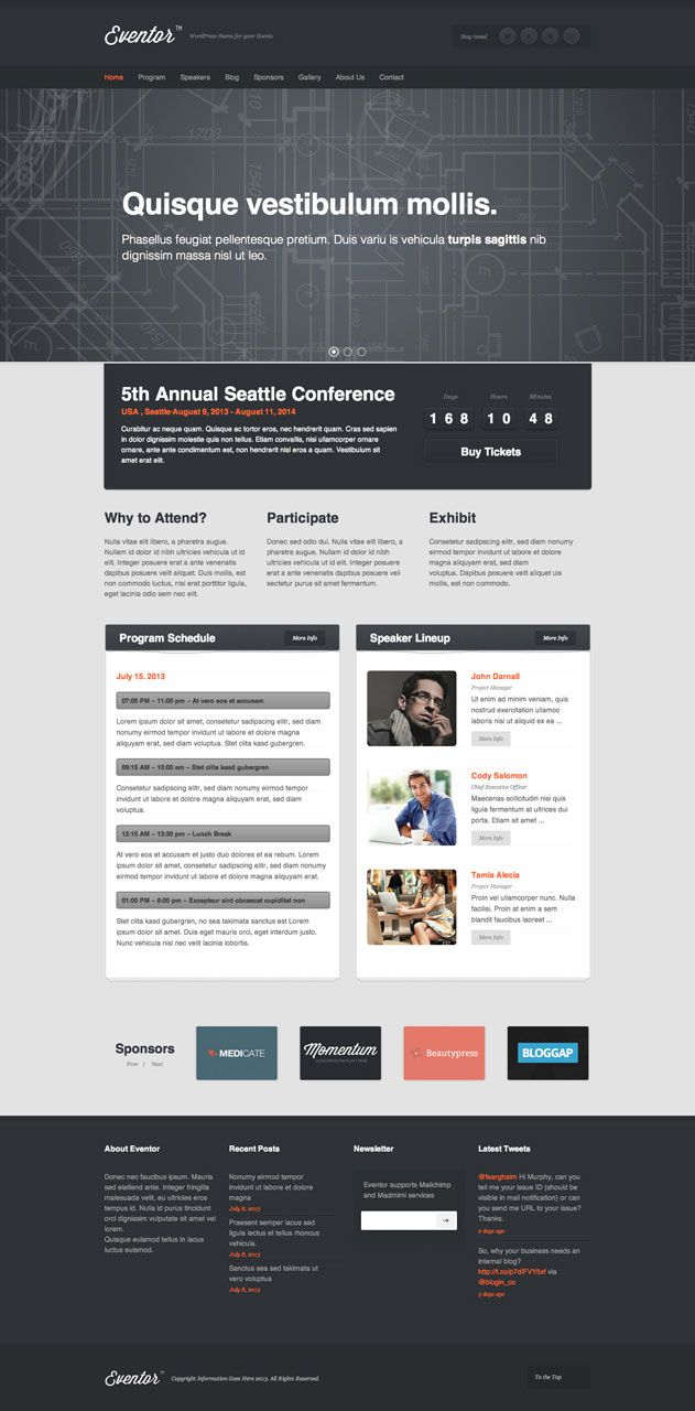eventor-event-theme | Design | Pinterest | Event themes, Conference ...