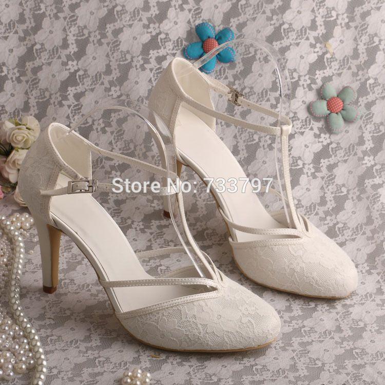 Wedopus MG3011 Women Ivory Lace Sandals Wedding Evening Shoes High Heeled 321db148b01b