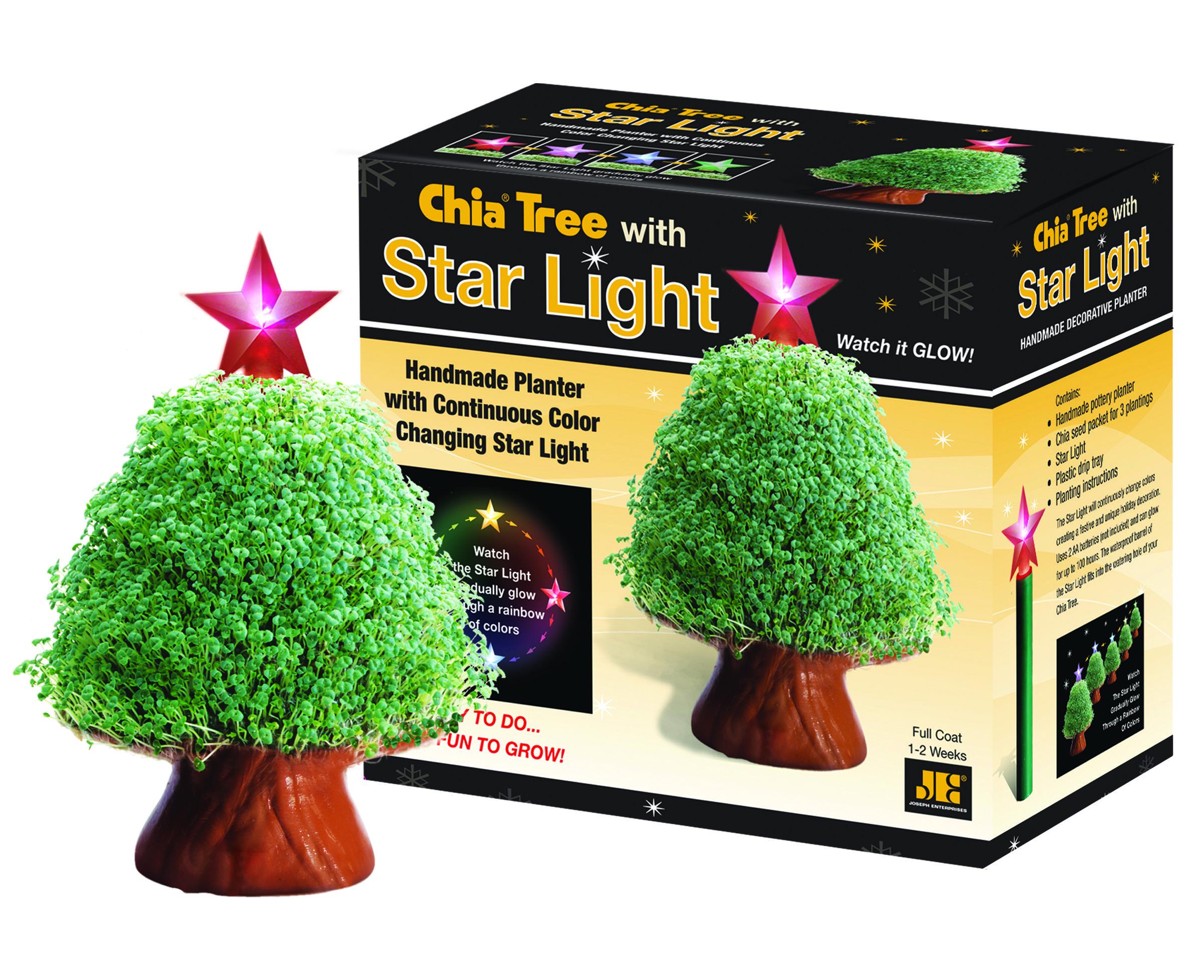 Chia Tree With Starlight Chia Pet Handmade Planter Indoor Flower Pots
