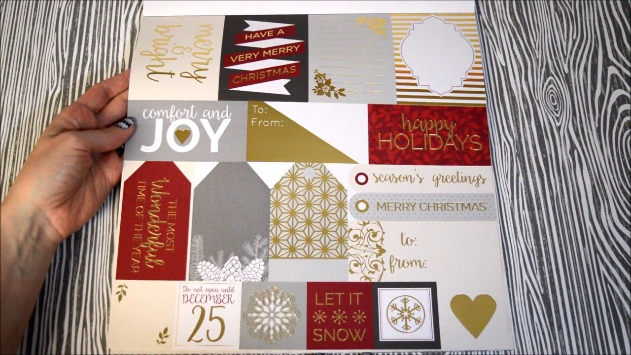 Gold color cardstock paper - The Dcwv Cranberry Christmas Stack Contains 48 Sheets Of Printed Cardstock Half Of Which Contain Christmas Papercranberriescolor