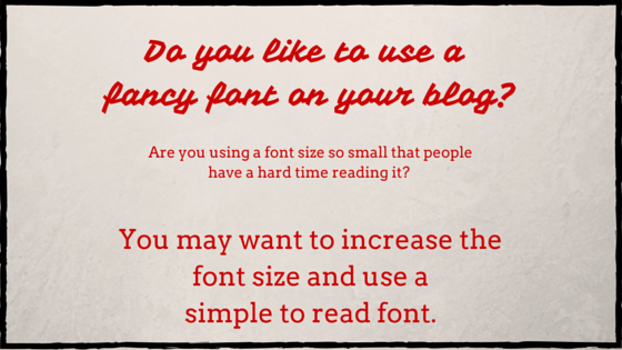 withkarenandrews.com  Will this make you reconsider the fonts and font sizes on YOUR blog?