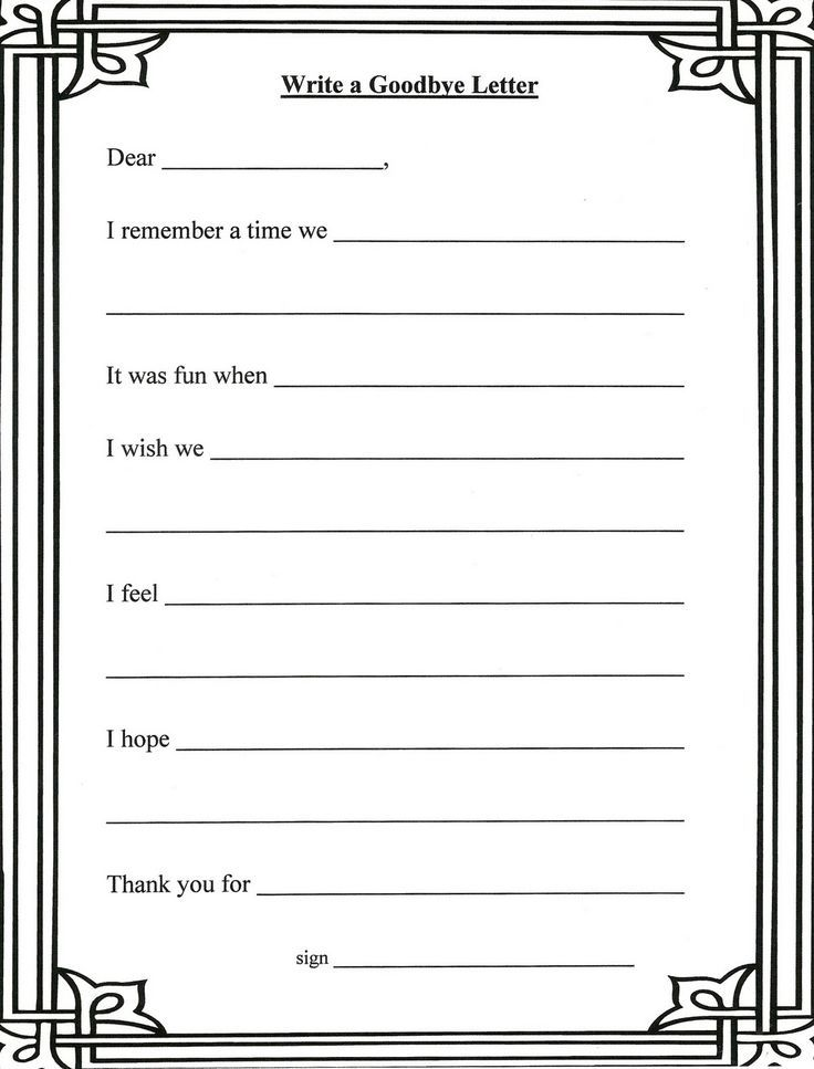 Printable Worksheets grief counseling worksheets : Lorinda-Character Education: Grief Stages and Goodbye Letter ...