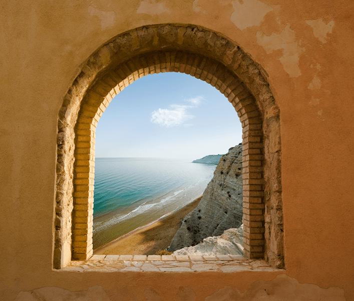 Fototapete dachfenster  Fototapeten: Fenster zu Meer | ughi | Pinterest | Fototapete ...