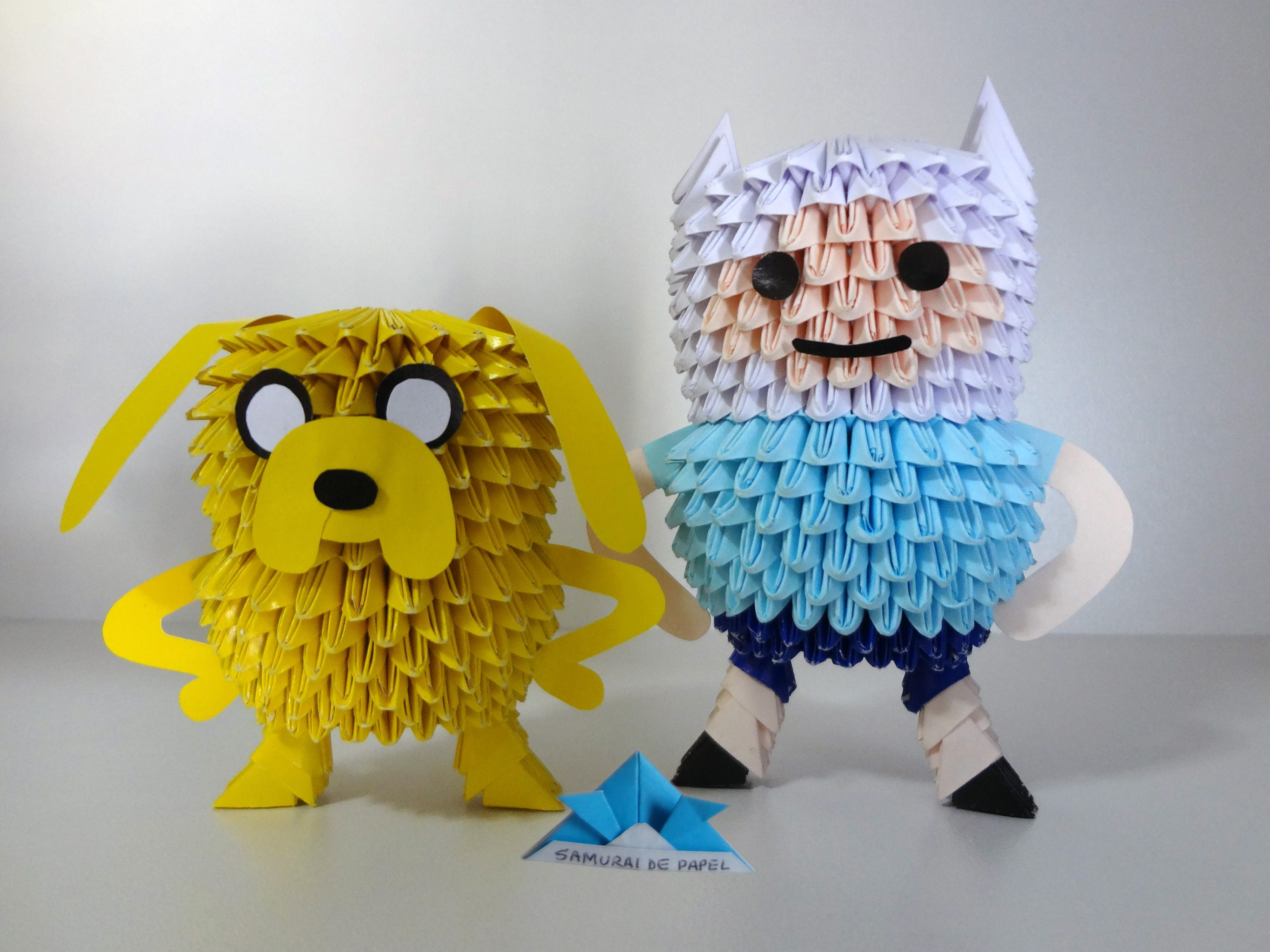 Origami 3d jake and fin adventure time 3d origami origami 3d jake and fin adventure time jeuxipadfo Choice Image