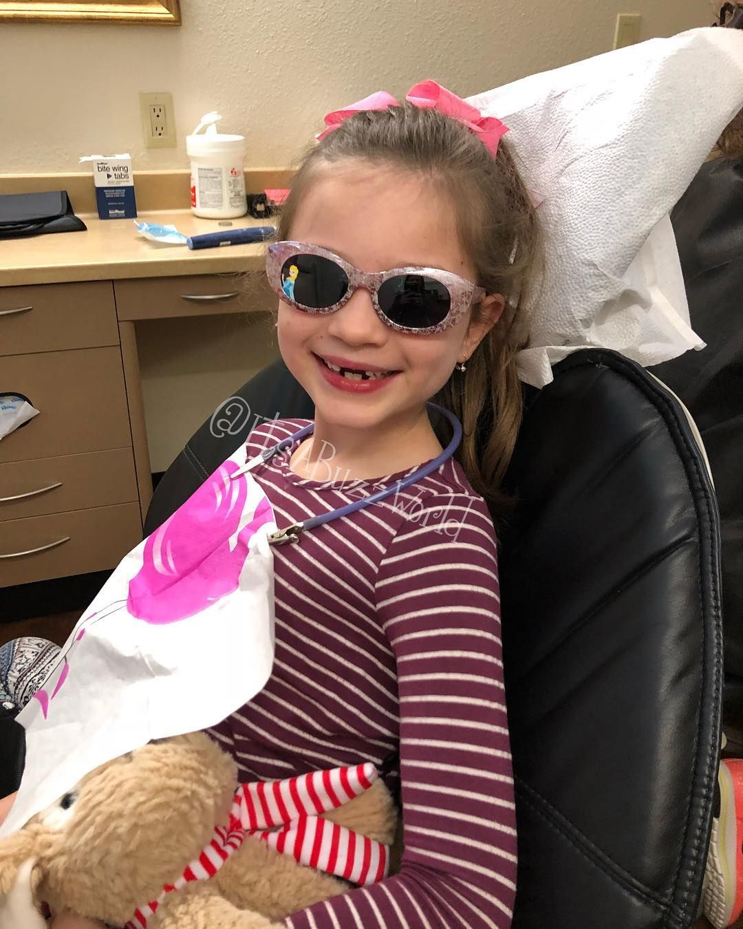 So proud of this girl today No cavities she did Xrays and got