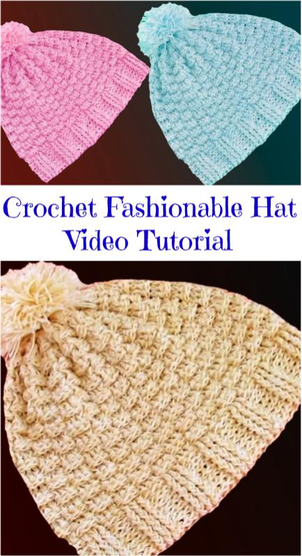 fashionable hat | entretejido | Pinterest | Stricken