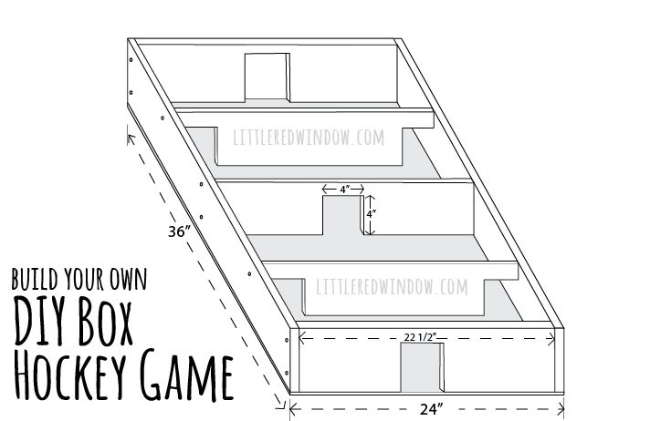 Diy Box Hockey Game With Popsicle Sticks And Bottlecap Little Red Window Diy Box Hockey Games Popsicle Sticks