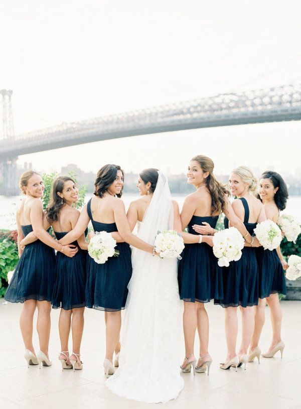 ladies in navy blue Jcrew.com dresses  Photography by jenhuangphotography.com, Floral Design by fleursnyc.com