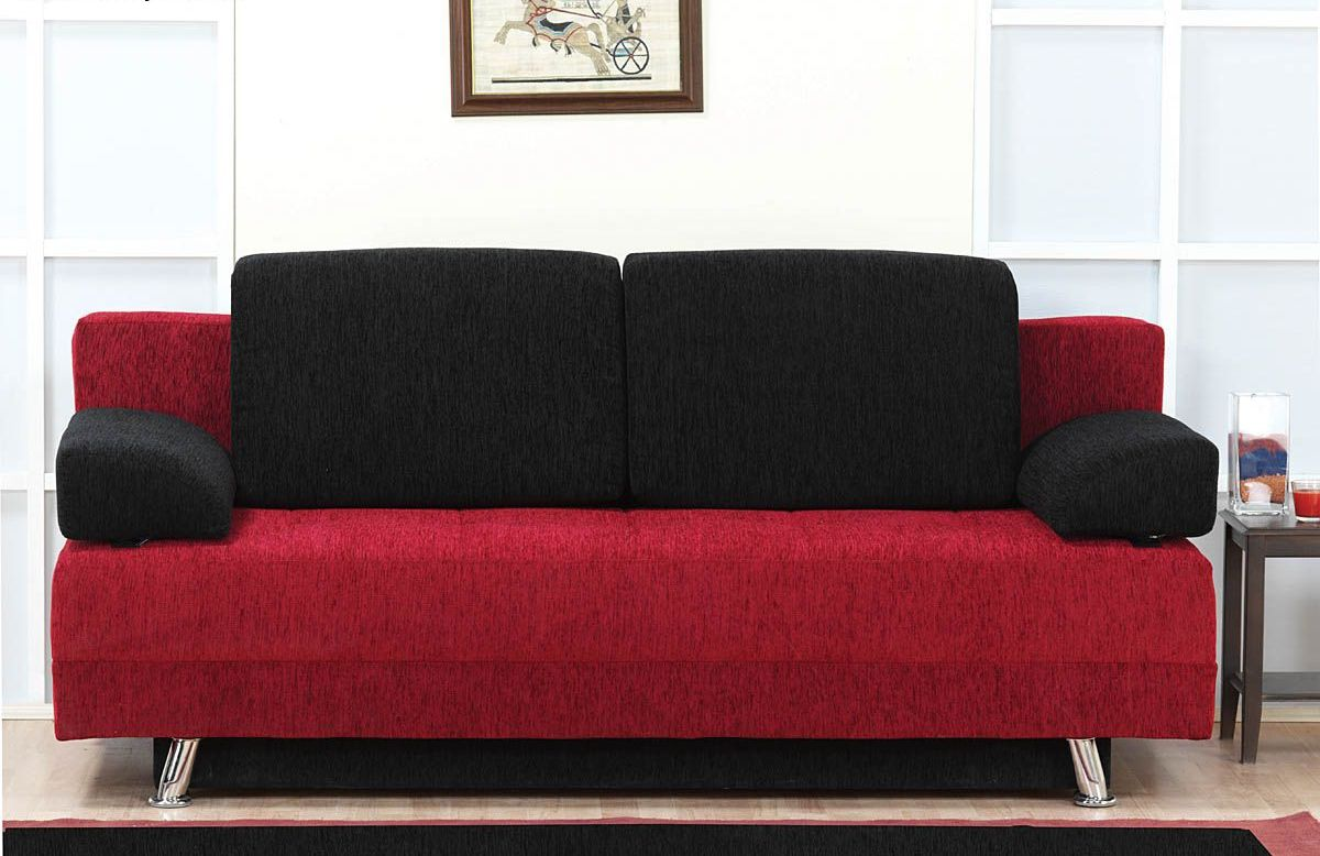 Superior Red Futon Basement.
