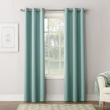 Mainstays Texture Blackout Lined Energy Efficient Grommet Curtain Panel