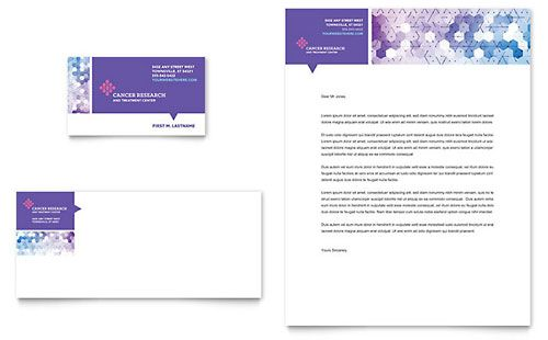 Cancer Treatment - Business Card \ Letterhead Template Visiting - company letterhead templates