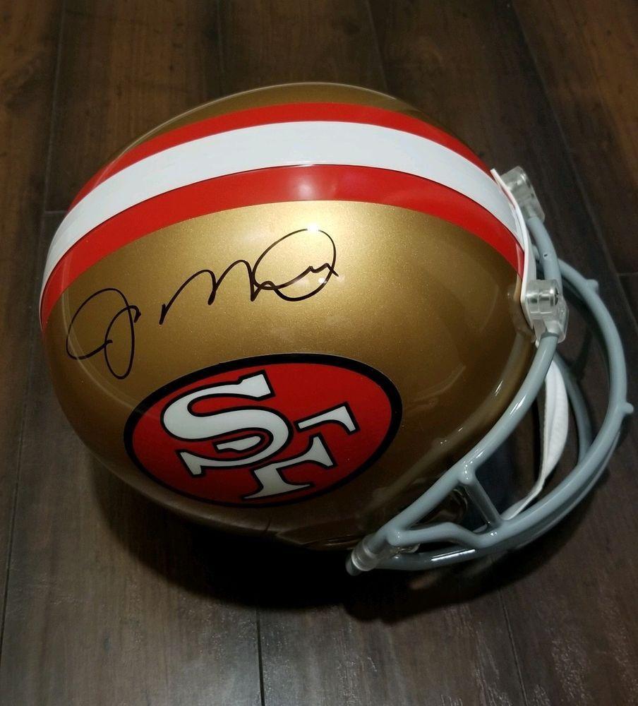 official photos 1a484 b866d Joe Montana Autograph Full Size Helmet JSA Certified HOF 00 ...