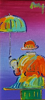 Umbrella Man on Blend Detail Ver. I, 2012 Peter Max in
