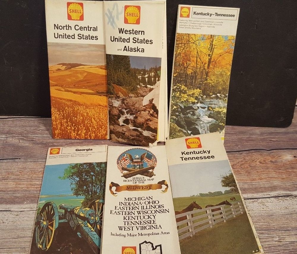Vintage Mixed Lot 6 Road Maps Georgia Kentucky Michigan United ...