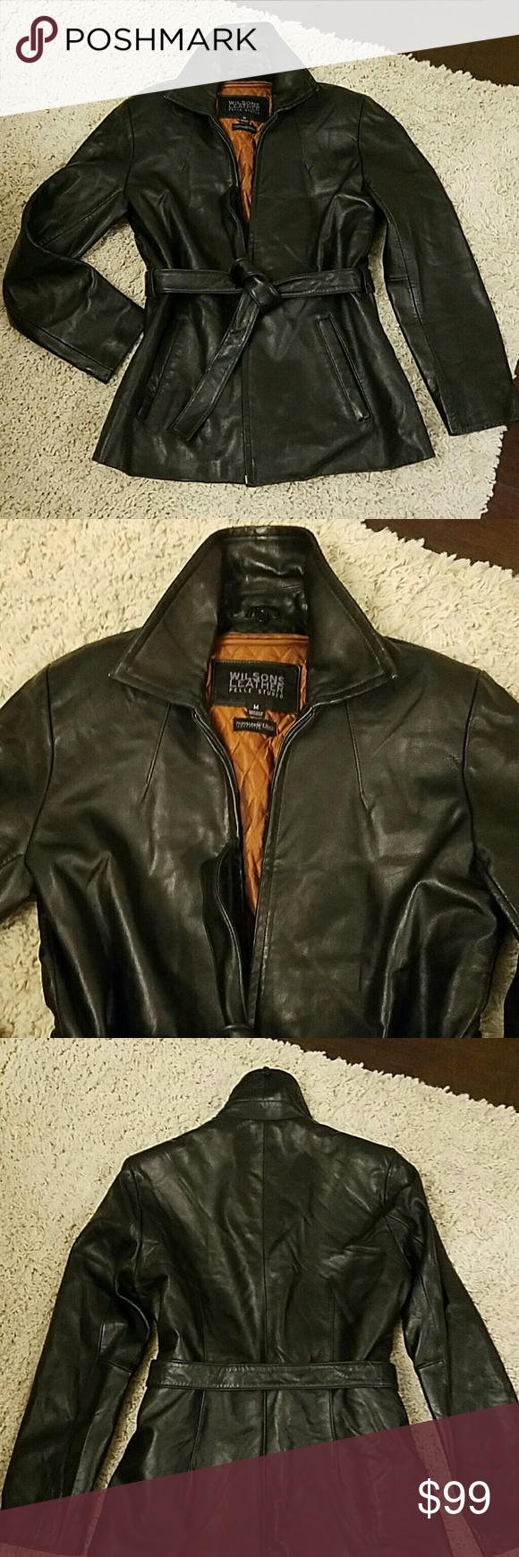 Wilson's Leather Pelle Studio leather coat🍷 Wilson's Pelle
