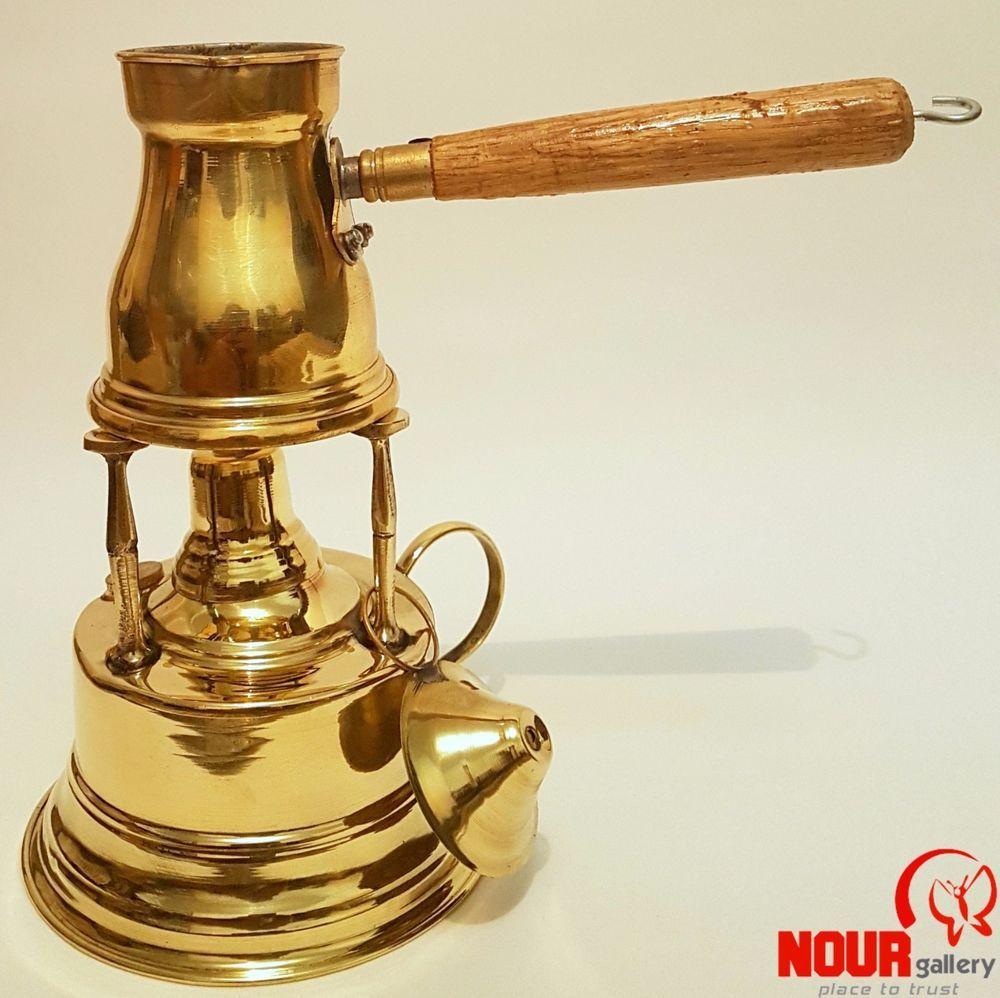 Coffeemaker handmade alcoholburner brass tabletop