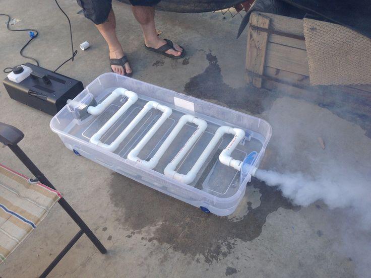 Diy fog machine chiller flat version fog chillers