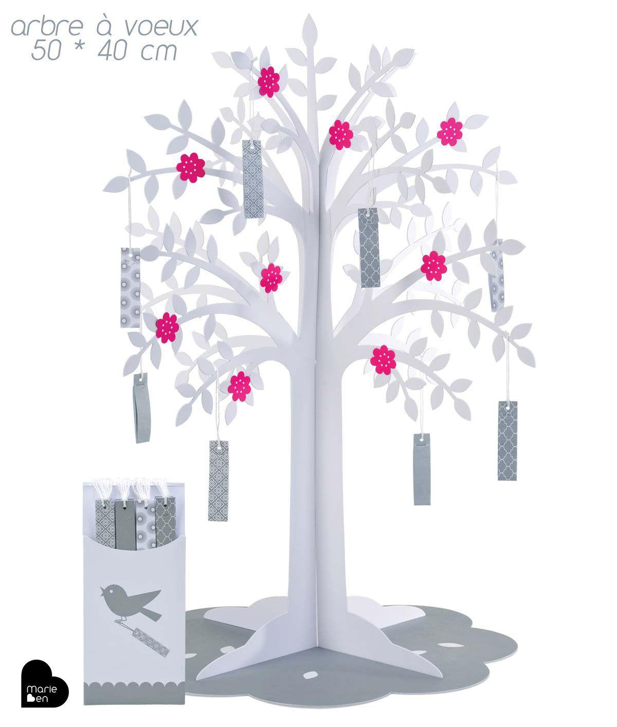 arbre voeux centre de table arbre voeux anniversaire mariage d coration livre d. Black Bedroom Furniture Sets. Home Design Ideas