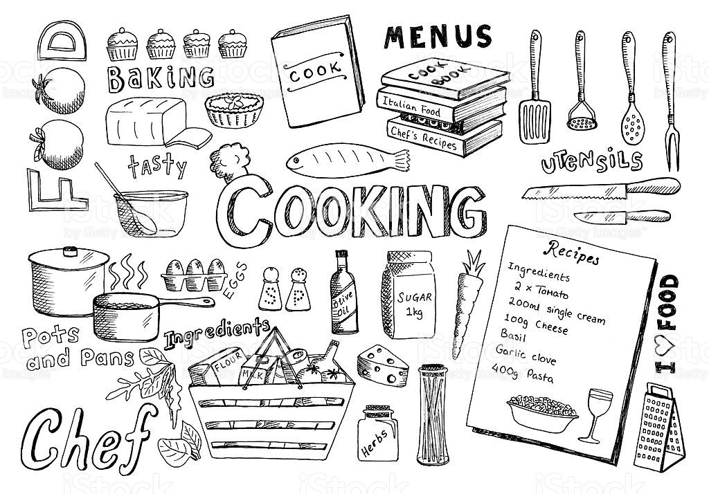 Lots of doodles associated with cooking. View my portfolio