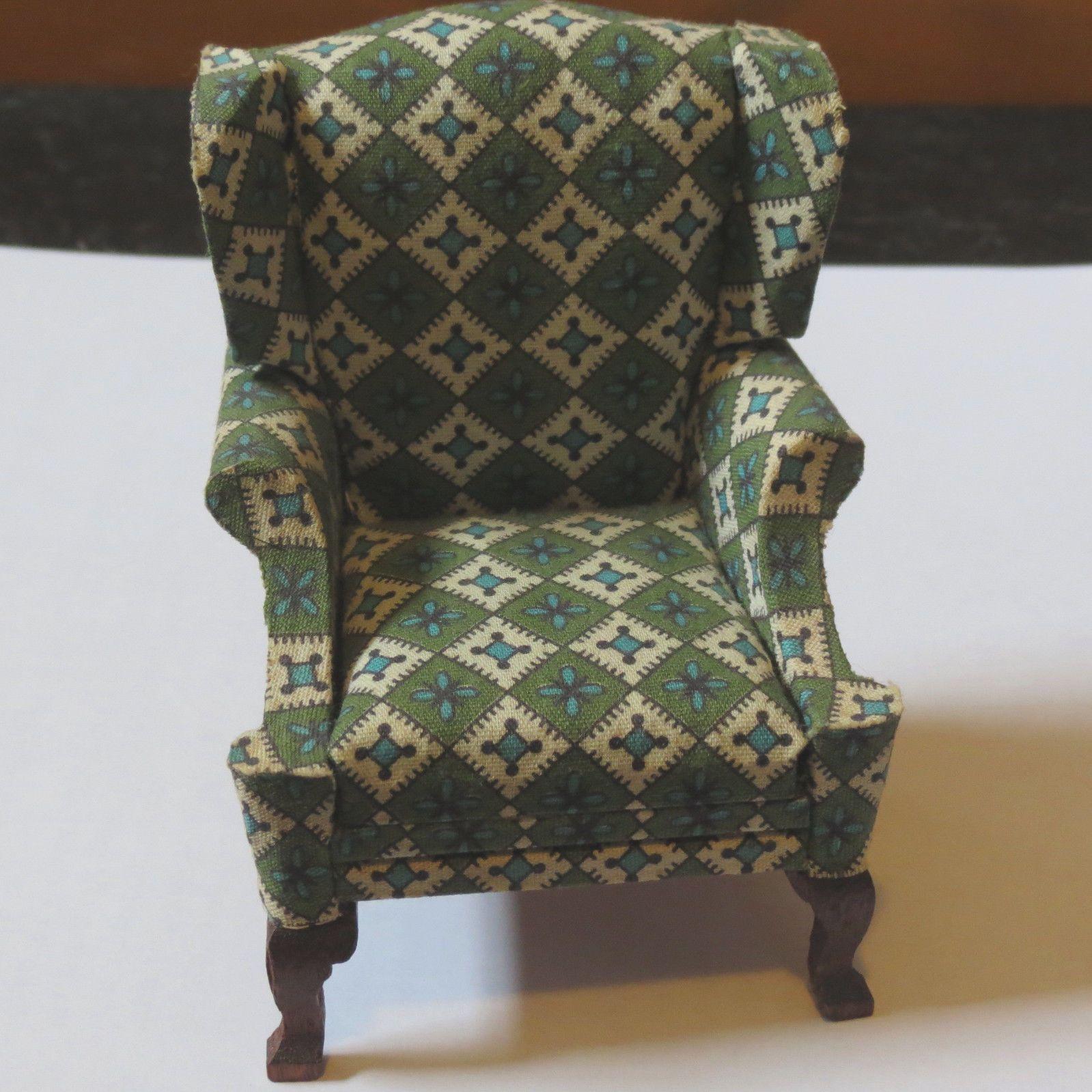 vintage lynnfield dollhouse miniature wingback chair wingback