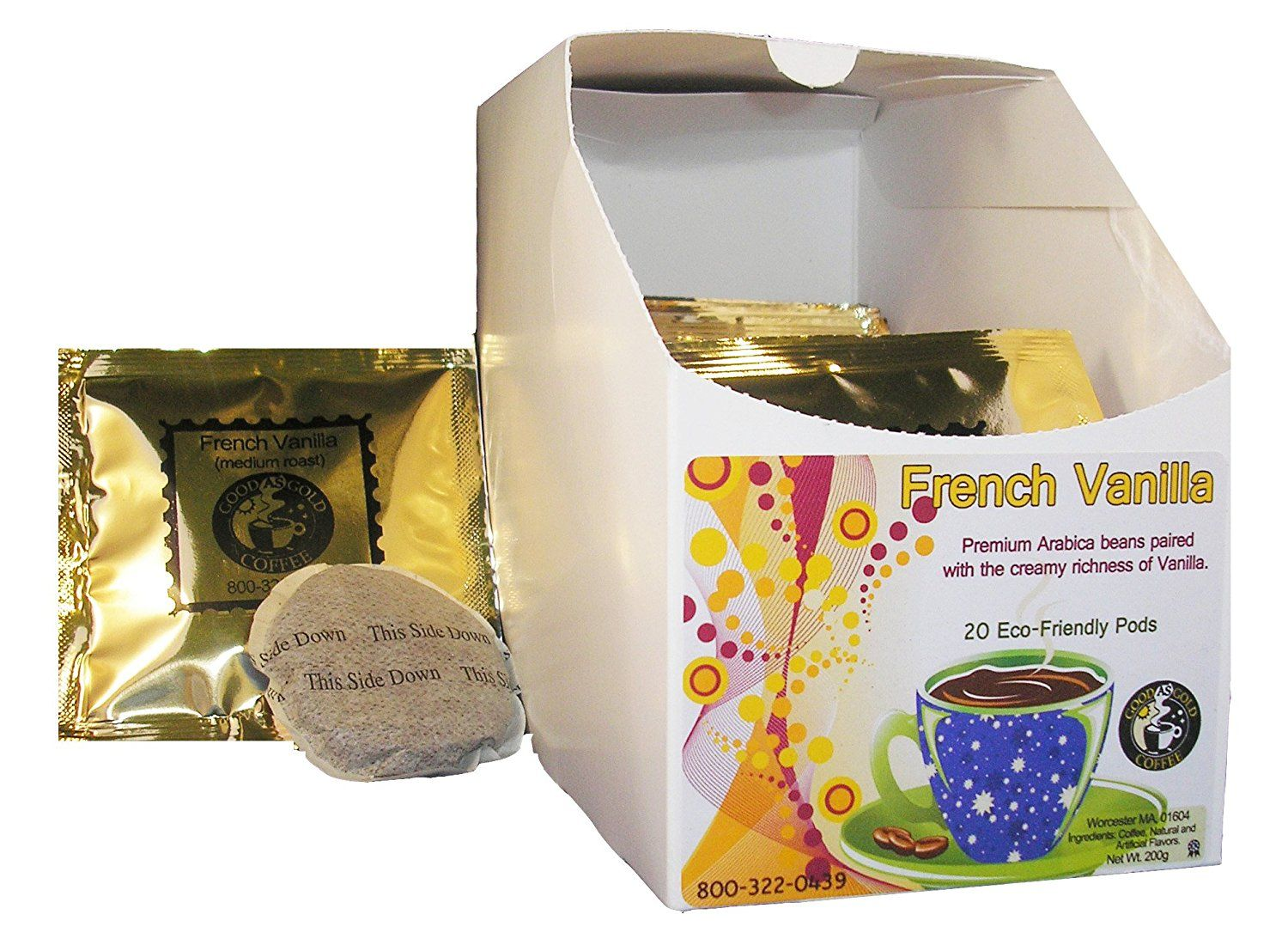 French vanilla coffee pods good as gold coffee 20 pods
