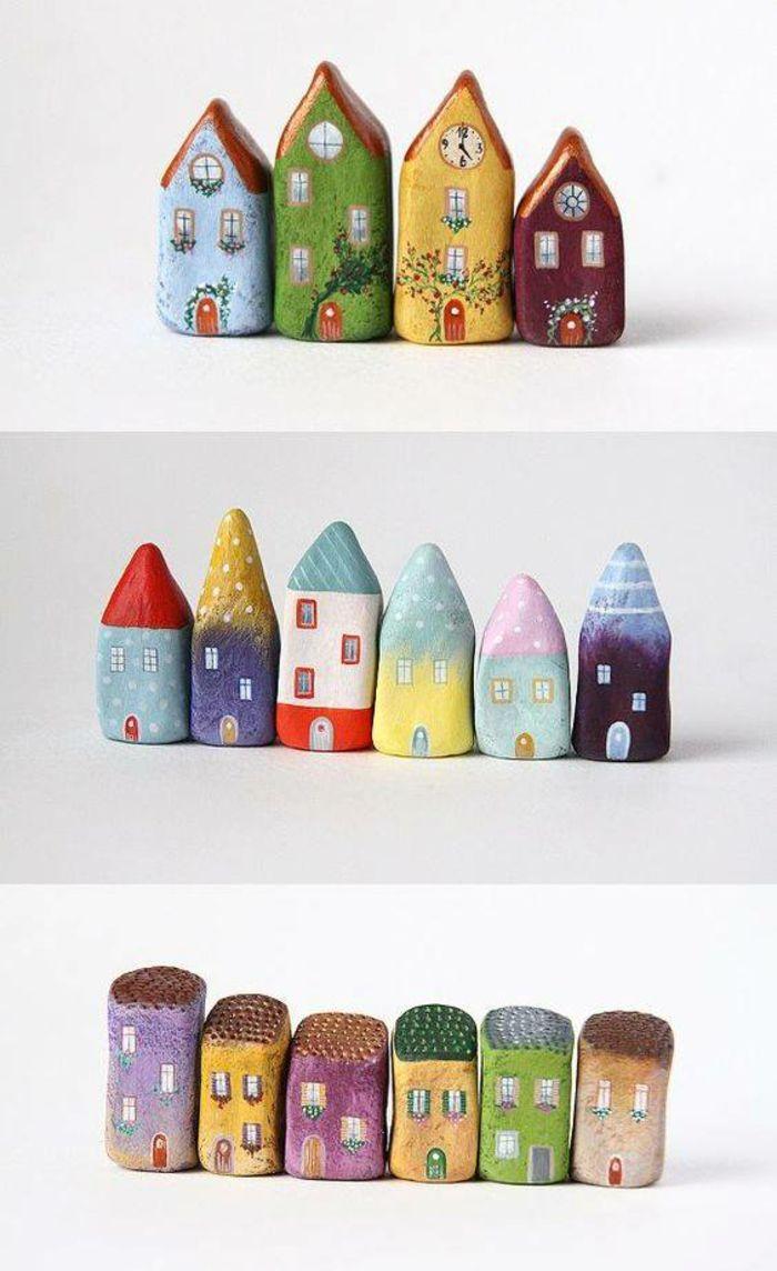 steine bemalen geschenkideen bemalten steine basteln mit steinen stadt sch nes pinterest. Black Bedroom Furniture Sets. Home Design Ideas
