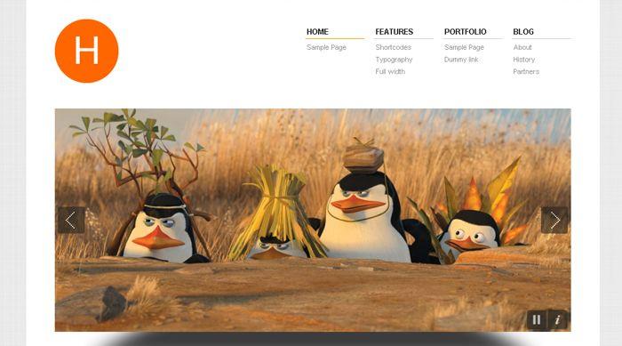 Hydrogen, WordPress Minimalistic Portfolio Theme